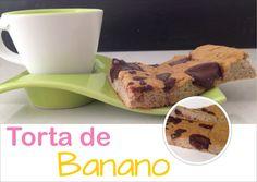 Postres fitness: torta de banano sin harina ni azúcar. Receta en pagina web
