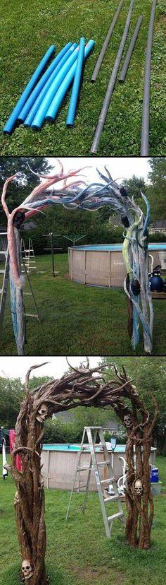 Outdoor Halloween Decorations Idea for Spirit Halloween at Party - do it yourself outdoor halloween decorations