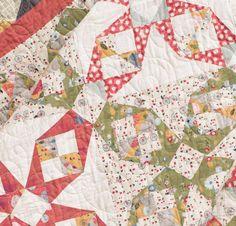 Moda Mon Ami by Basic Grey Fabric & Flower Mill Pattern Quilt Kit - White