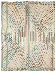 A Swedish Rug (Karvar) by Märta Måås-Fjetterström BB5201 - by Doris Leslie Blau.  A Swedish tapestry weave (Karvar) designed in 1956 by Barbro Nilsson for Marta Maas-Fjetterstrom.