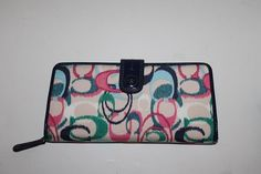 Coach Signature Ikat Accordion Zip Wallet 49490. Starting at $35 on Tophatter.com!