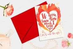 Valentine's day romantic card by Romantic shop on Creative Market
