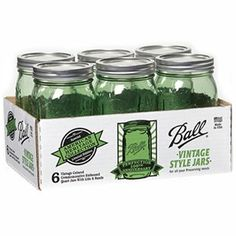 For the Irish Gift Idea's try ~ Ball Heritage Collection Canning Jars With Lids, Green, 1-Qt., 6-Pk.: Model# 1440069100 : True Value Hardware Stores