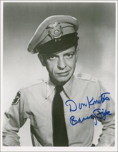 Don Knotts...aka, Barney Fife...WV Native - Morgantown, WV