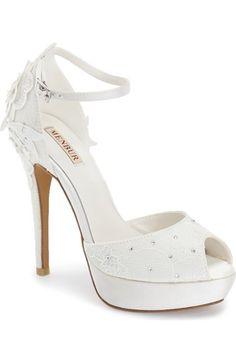 3bf9f54119de4f Main Image - Menbur  Dafne  Lace   Crystal Platform Sandal (Women)