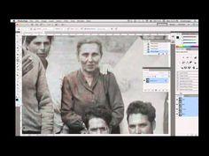 Photography Tip #42 ; Retouching Vintage Damaged Photographs using Photoshop