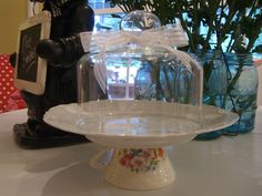 Sweet little cake stand (from Cherry Hill Cottage)