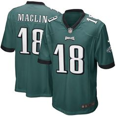 Jeremy Maclin 18 Player Men's Short Sleeve T-Shirt 2016-17 Season Game Jerseys Green Size XL(48) -- Awesome products selected by Anna Churchill