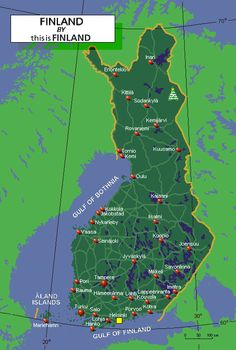 Active map of Finland - thisisFINLAND: Facts & stats: Geography Finland Map, Finnish Words, Interactive Map, Best Cities, Helsinki, Norway, Tourism, Roots, Scandinavian