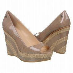 544ba631701d SALE - Calvin Klein Harlo Wedge Heels Womens Taupe Leather - Was  99.00 -  SAVE  10.00