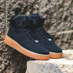 Nike Air Force 1 High top, suede women's in black. Price is firm. No trades. Nike Shoes Sneakers