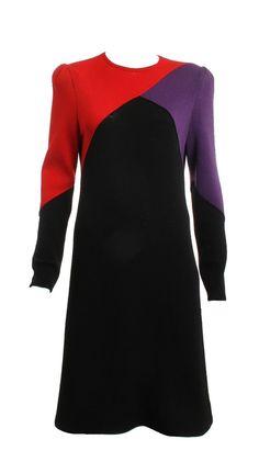 ST John Vintage Color Block Knit Dress Size Small – London Couture