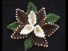 CRAW stitch Bead - Three leaves Cubic RAW open shape - Cubic Right Angle Weave with beads - YouTube