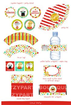 NonPersonalized Printable Circus Party by kutzypartyboutique, $15.00