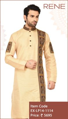#Exclusive #EthnicWear #Design #ethnic #Traditional #Trendy #Kurta #Men #Beige #Ootd #Outfit #Fashion #Style #ReneIndia #Brand also available on #Flipkart #snapdeal #paytm