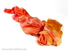 Handbeschilderde zijden sjaals 100-002