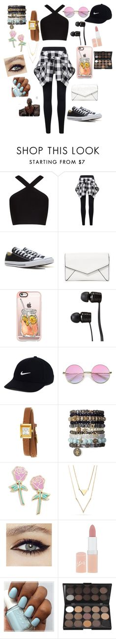 """""""❤️😄"""" by whysorude on Polyvore featuring mode, BCBGMAXAZRIA, Converse, LULUS, Casetify, Vans, NIKE, Gucci, Big Bud Press et Rimmel"""
