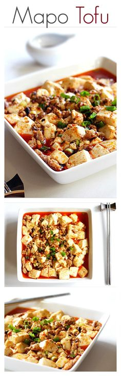 Mapo tofu and mapo tofu recipe for home cooks. Learn how to make authentic and delicious mapo tofu with this easy recipe. Get mapo tofu… Veggie Recipes, Asian Recipes, Vegetarian Recipes, Cooking Recipes, Healthy Recipes, Chinese Recipes, Delicious Recipes, Mapo Tofu Recipe, Tofu Dishes