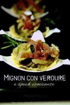 Cestini mignon con verdure e speck with our Mini dessert Felix #Poloplast