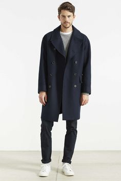PLAC Oversized Wool Topcoat - Urban Outfitters