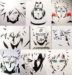 Madara, Itachi, Pain/Yahiko, Sasuke, Naruto, Minato, Kakashi, Obito, Gaara