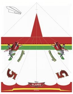 Disney Planes El Chupacabra Printable Paper Airplane Craft