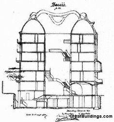 AD Classics: Casa Milà,Section (via greatbuildings.com)
