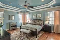 Beautiful Ceiling in Master Bedroom in Cary, NC. Moving to Cary, NC? Contact Marc Langefeld, REALTOR. Call 919.749.1117. Email langefeldm@hpw.com