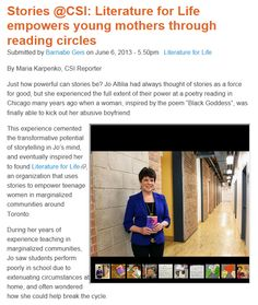 Stories Literature for Life empowers young mothers through reading circles Centre, Innovation, Literature, Interview, Thoughts, Reading, Blog, Life, Literatura