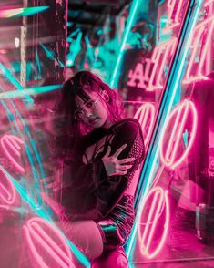 """""""Under The Electric Sky"""": Beautiful Portrait Photography In Neon Lights By Tom Dewh Photography Photography Techniques Tips Photography of Photography Neon Lights Photography, Night Photography, Creative Photography, Photography Tips, Landscape Photography, Photography Colleges, Birthday Photography, Scenic Photography, Photography Awards"""
