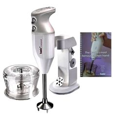 Bamix Deluxe Universal Wand Mixer in White + Extra 97 Pages Recipe Cookbook