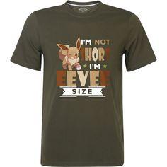 eacb4f864 #funnyshirts Im Not Short I'm Eevee Size Funny Pokemon Graphic T Shirt Mens