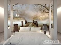 idea using wall separators Small Space Interior Design, Interior Design Living Room, Living Room Decor, Home Bedroom, Bedroom Decor, Bedrooms, Poster Mural, Home Wallpaper, Forest Wallpaper