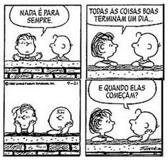 Peanuts - Charlie Brown e Linus Snoopy And Charlie, Snoopy Love, Bd Comics, Calvin And Hobbes, Just Smile, More Than Words, Funny Cartoons, Sad Quotes, Comic Strips