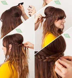 Long Hair Styling Tutorial by ModCloth ..Would be cool with smaller bump of course!!