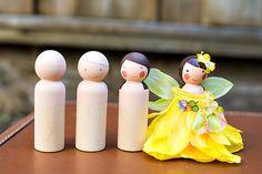 DIY Tutorial: Wooden Peg Fairy Dolls