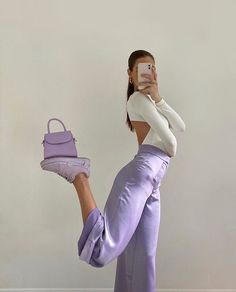 Fashion Tips Outfits .Fashion Tips Outfits Lila Outfits, Purple Outfits, Neue Outfits, Boho Outfits, Trendy Outfits, Insta Outfits, Pastel Outfit, Best Summer Outfits, Outfits For Photoshoot