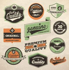 100+ Free Vintage and Retro Labels and Badges