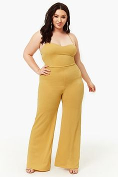 Plus Size Lace-Up Palazzo Jumpsuit Curvy Women Fashion, Plus Size Fashion, Fashion Models, Fashion Outfits, Plus Size Dresses, Plus Size Outfits, Full Figure Fashion, New Arrival Dress, Girl With Curves