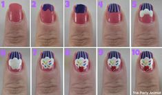 I'm going to do this on my niece when she comes to visit! Cupcake ... Nail Art Design Tutorial