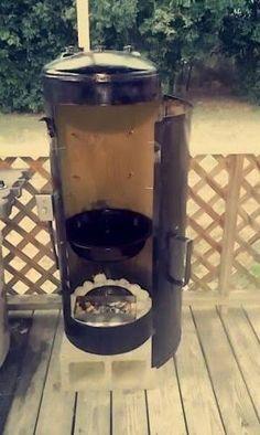 Resultado de imagen para outdoor metal fireplace