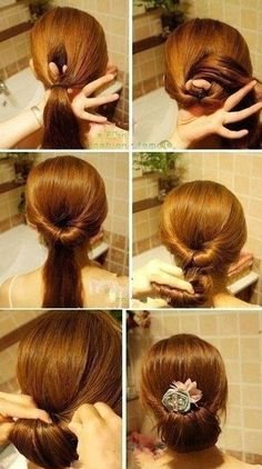 Cute hair style.  Had no idea it was so simple to do.