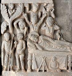 Life of the Buddha. Parinirvana.   Pakistan (ancient Gandhara)  late second early third century  stone