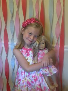 An American Girl Birthday Party Rsvp with your size. when you come over there will be a dress for you and your doll!