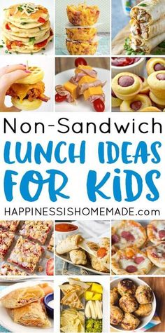 25 School Lunch Ideas for Kids : Looking for tasty sandwich alternatives to pack in your child's lunchbox? These creative school lunch ideas for kids are just the ticket! Mac and cheese muffins, pizza pancakes, chicken ranch roll-ups, and LOTS more! Creative School Lunches, Kids Lunch For School, Healthy Lunches For Kids, Toddler Lunches, Packed Lunch Ideas For Kids, Breakfast Ideas For Kids, Kids Meal Ideas, Dinner Ideas For Kids, School Meal