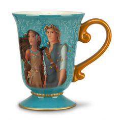 DISNEY DESIGNER FAIRYTALE COUPLE POCAHONTAS & JOHN SMITH Mug New PRINCESS