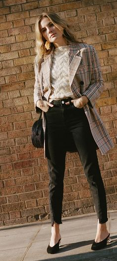 Outfit ideas with a check coat