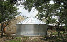 22000 gallon corrugated metal rainwater tank system.jpg provided by Innovative Water Solutions, LLC Austin 78753