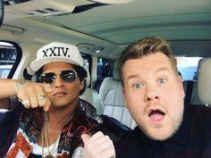 Bruno Mars será copiloto de Corden en su carpool karaoke | El Puntero