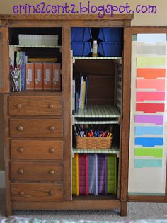 scrapbooking armoire...I had to share my latest project!